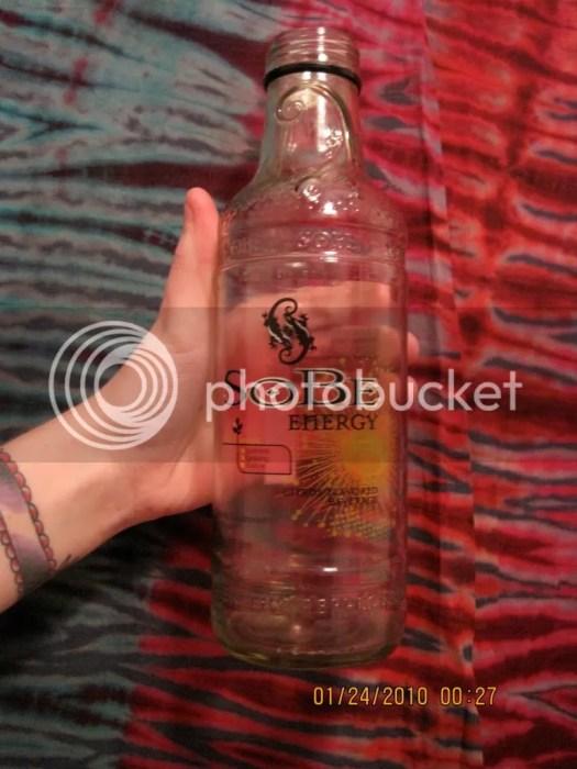 A Sobe bottle.