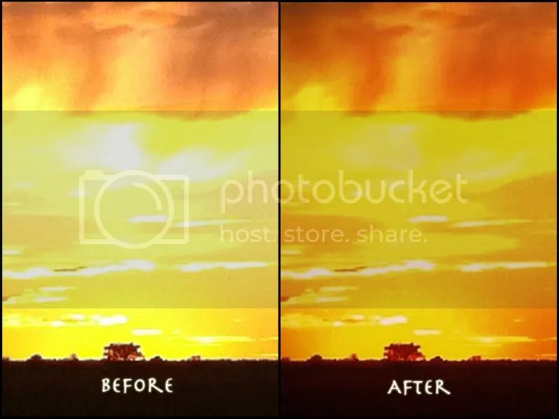 two images showing before and after processing
