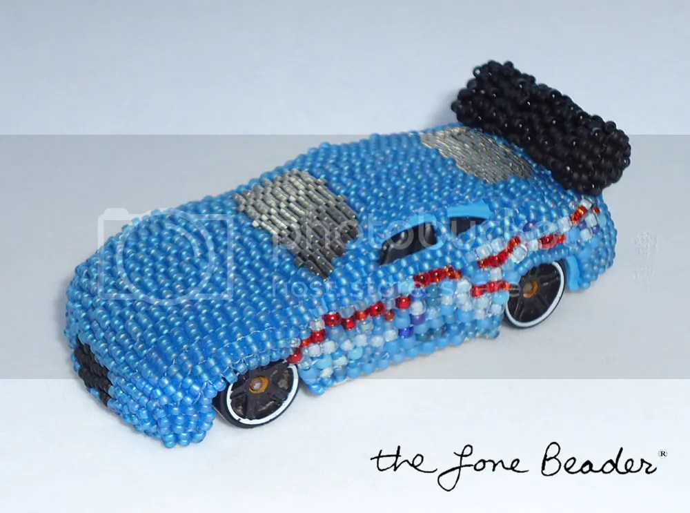 peyote stitch beaded hot wheels matchbox car art toy beadwork ebay etsy ooak