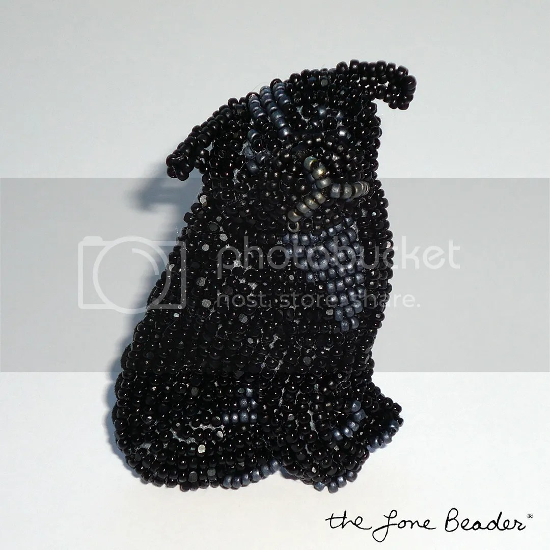 black beaded pug dog pin bead embroidery pendant etsy akc art brooch