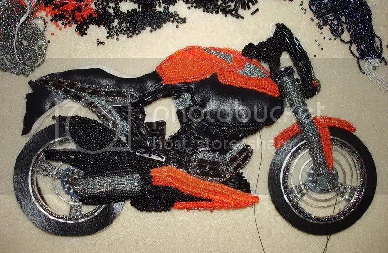 beaded bead embroidery earrings sun flower starburst nuts washers motorcycle wheels=