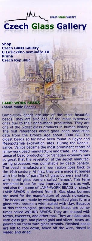 Czech Glass Gallery beadwork beads  beading Prague Praha Republic lampwork seed glassmaking history