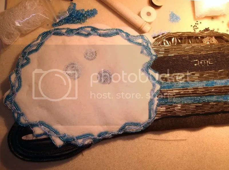 beaded 2008 Delorean time machine bead embroidery pop art Boston artist car dog Einstein
