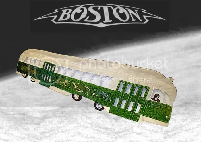 Beaded Boston band Mbta trolley T train launch space shuttle Brad Delp Tribute long time pop art PCC