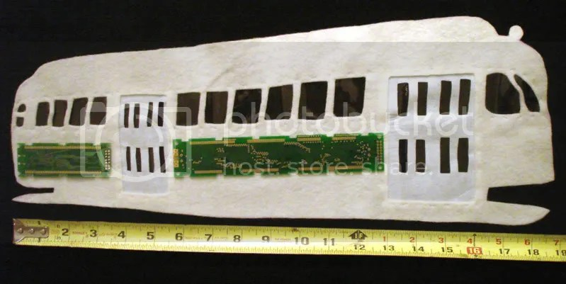 Beaded Boston trolley PCC Pullman train car electric electronic street circuit board beading pop art artist