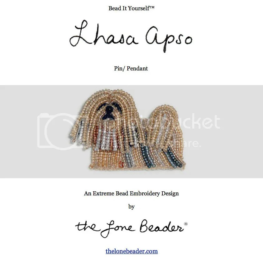 Lhasa Apso beading pattern Shih Tzu bead embroidery dog jewelry PDF file etsy beadwork artist