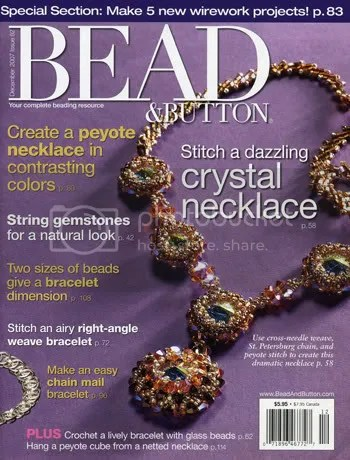 Bead & Button Magazine Cover December 2007. Diana Lynn Grygo. The Lone Beader.