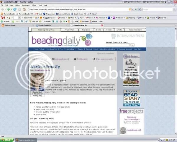 Lone Beader Beading Daily Doors End Blue Bus Jim Morrison bead embroidery pop art Interweave Press Beadwork