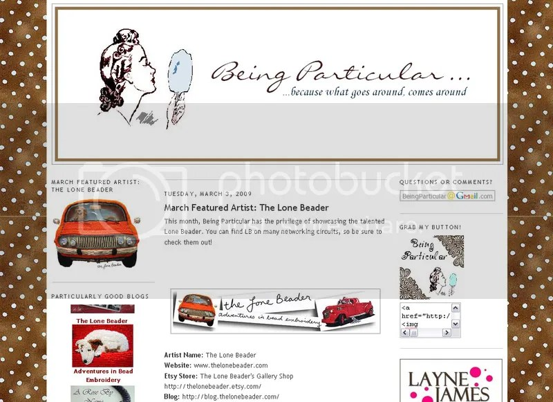 Bead Particular Beading Blog March Featured Boston Bead Artist Lone Beader