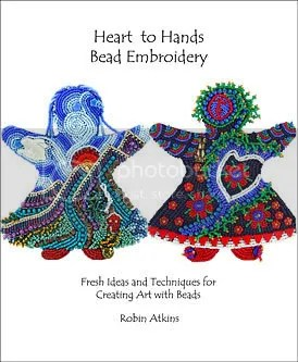 Heart to Hands Bead Embroidery Lone Beader Robin Atkins book Boston beadwork pop artist