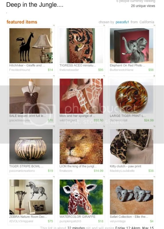The Lone Beader bead embroidery artist beaded Tigress ACEO Etsy treasury animal print