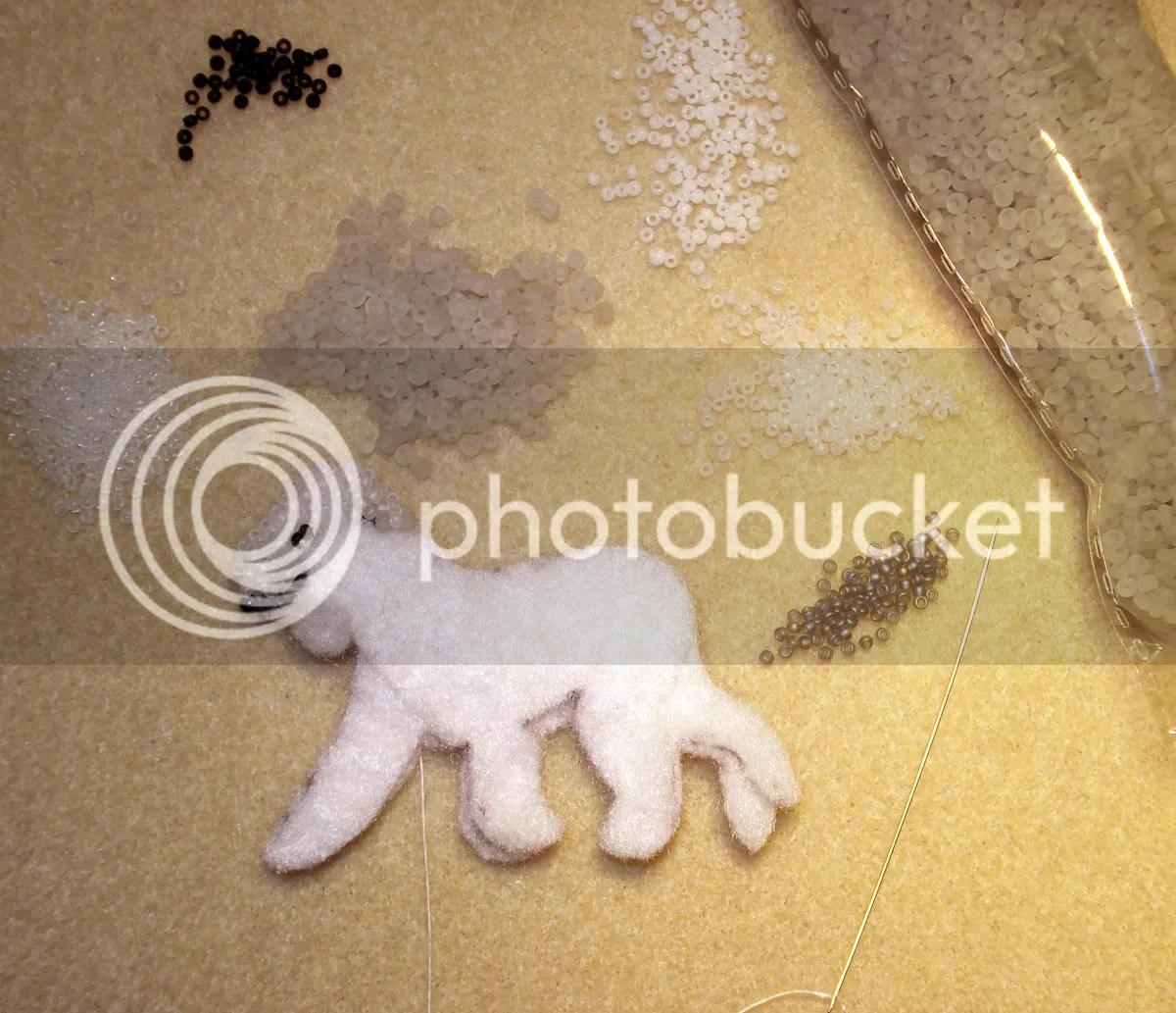 beaded Bedlington Terrier bead embroidery artist Boston etsy pin pendant beading blog