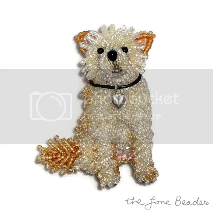 Custom Beaded Choodle Chihuahua Poodle Dog Pin Pendant Jewelry Etsy AKC Family Dog