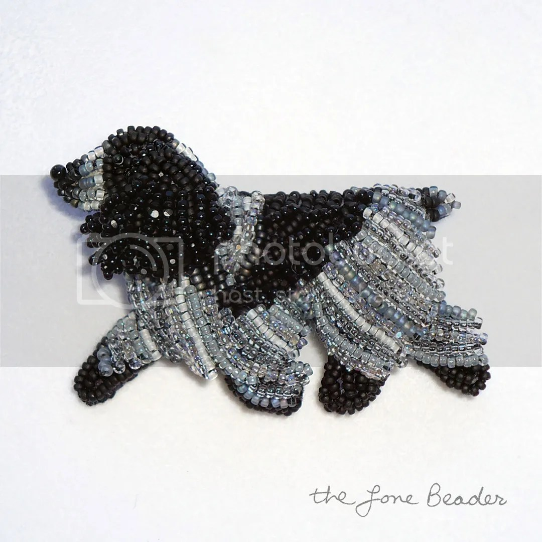 Beaded Blue Roan English Cocker Spaniel Pin Brooch Bead Embroidery Beadwork Dog Jewelry Etsy