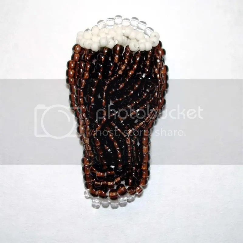 Guinness Extra Stout tiny beaded beer pendant etsy bead embroidery wearable fine art