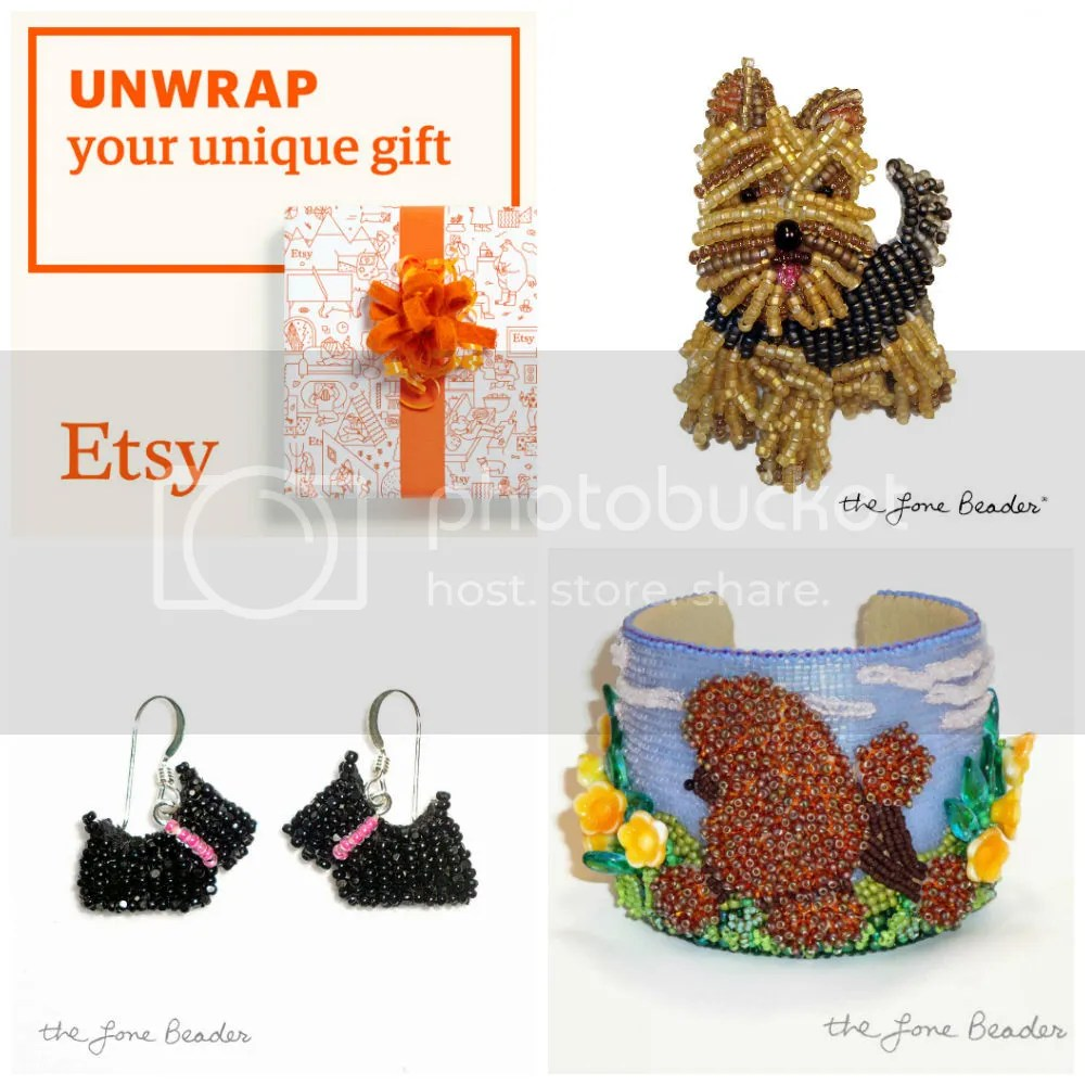 Unwrap Your Unique Gift Etsy holiday shopping Beaded Dog Jewelry Beads Dogs AKC Pet Gifts