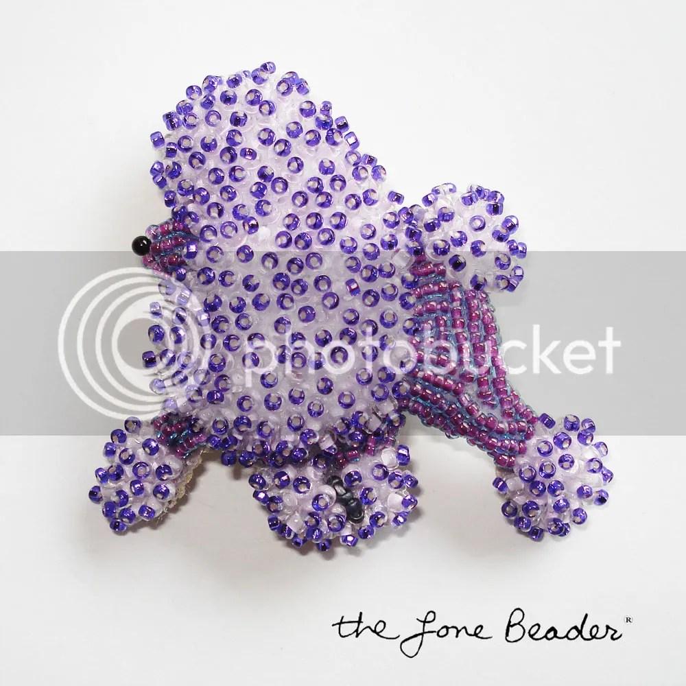 Beaded Purple Miniature Poodle Pin/ Pendant on Etsy