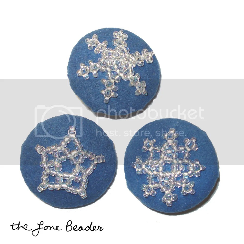 blue beaded snowflake buttons etsy thelonebeader ultrasuede bead embroidery sewing
