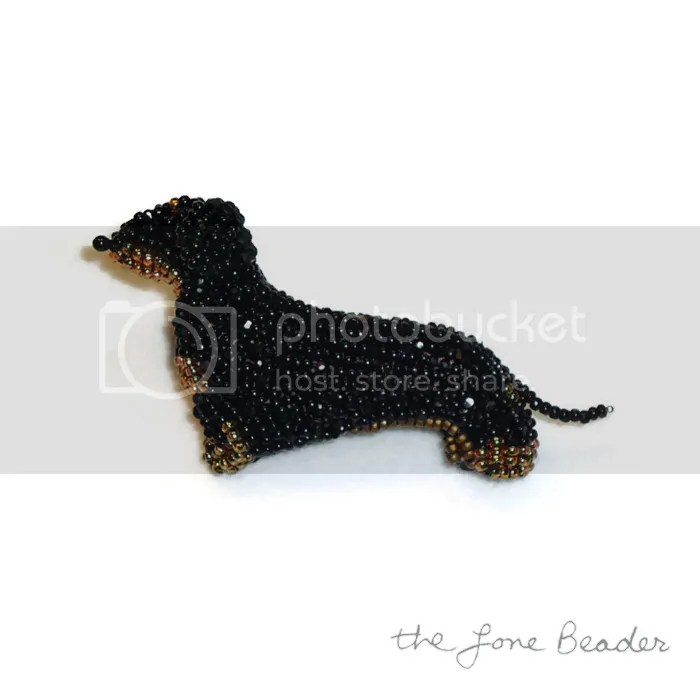 black and tan dachshund dog jewelry beaded pin bead art etsy bead embroidery dogs akc