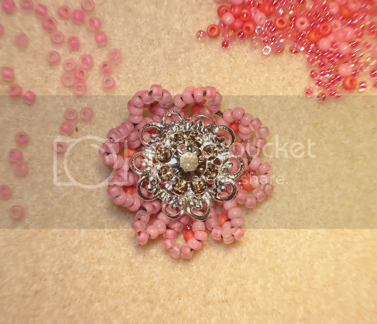 Japanese Czech glass seed beads Beads Direct UK bead embroidery beaded Swarovski filigree flower cocktail ring beadwork etsy