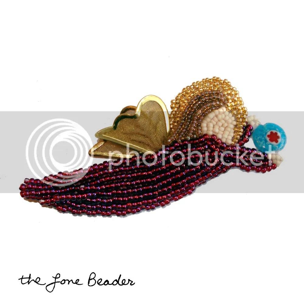 beaded Venetian angel millefiori glass art beadwork Christmas holiday ornament etsy embroidery