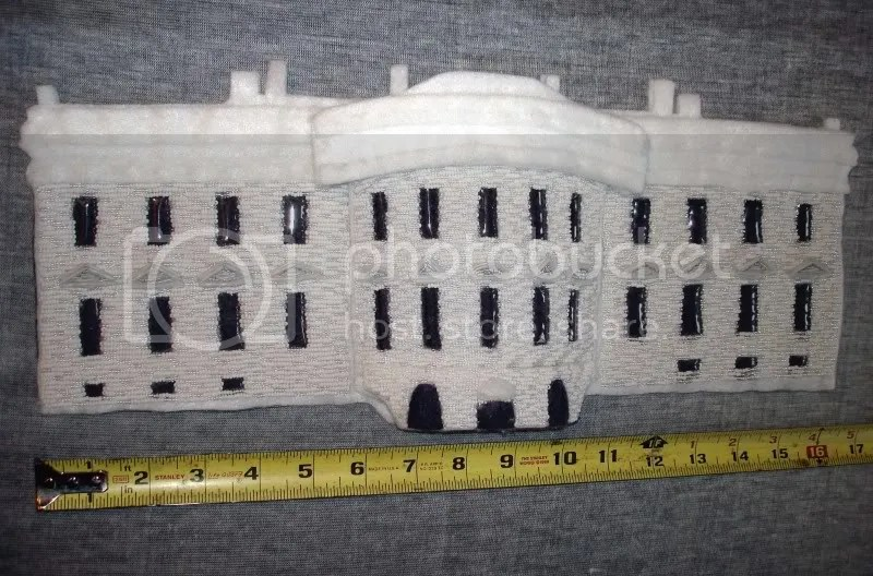 beaded White House South façade Barack Obama pop art beadwork bead embroidery blog