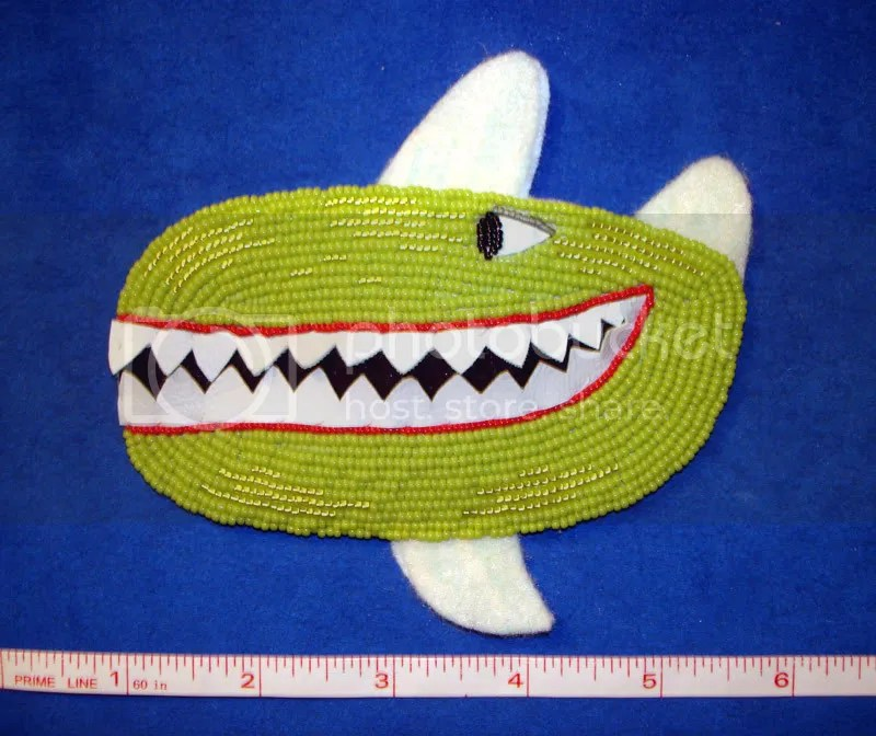 Beaded Beatles Yellow Submarine Bead embroidery Killer whale shark attack beading Beader Boston