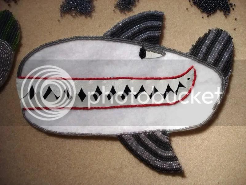 Beaded Beatles Yellow Submarine bead embroidery whales Boston pop art   beads beadwork painting