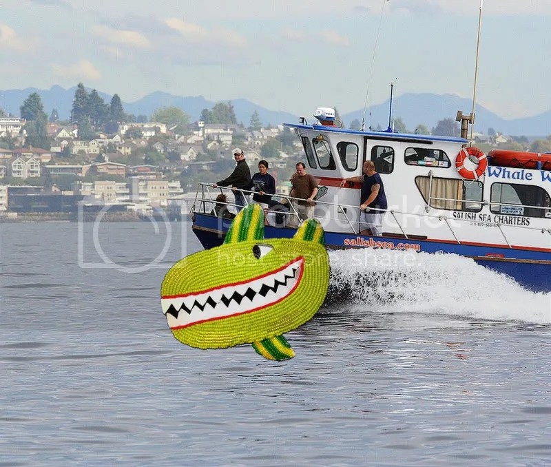Beaded Beatles Yellow Submarine Salish Sea WA bead embroidery seed beads Boston Beader Green Whale Watch