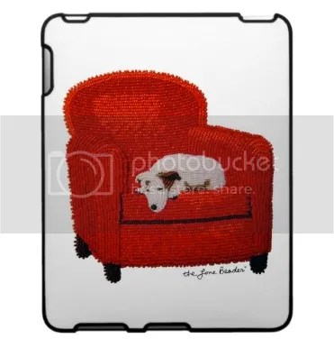 beaded iPad iPod iPhone case Rudy's Dream Jack Russell Terrier on chair Zazzle