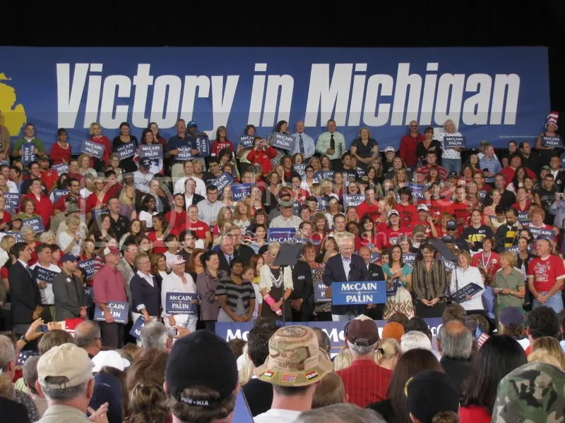 A Shot of the Crowd During McCains Speech