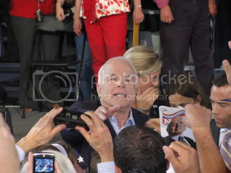 McCain Going Out to Meet Some of the Crowd