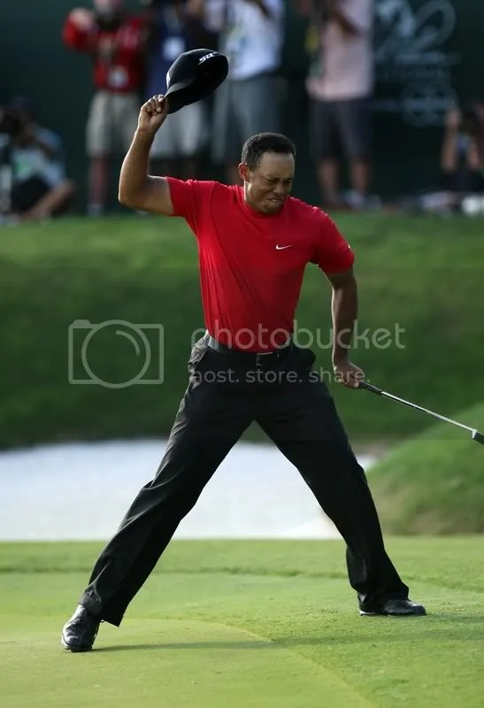 After making the winning 24-foot putt