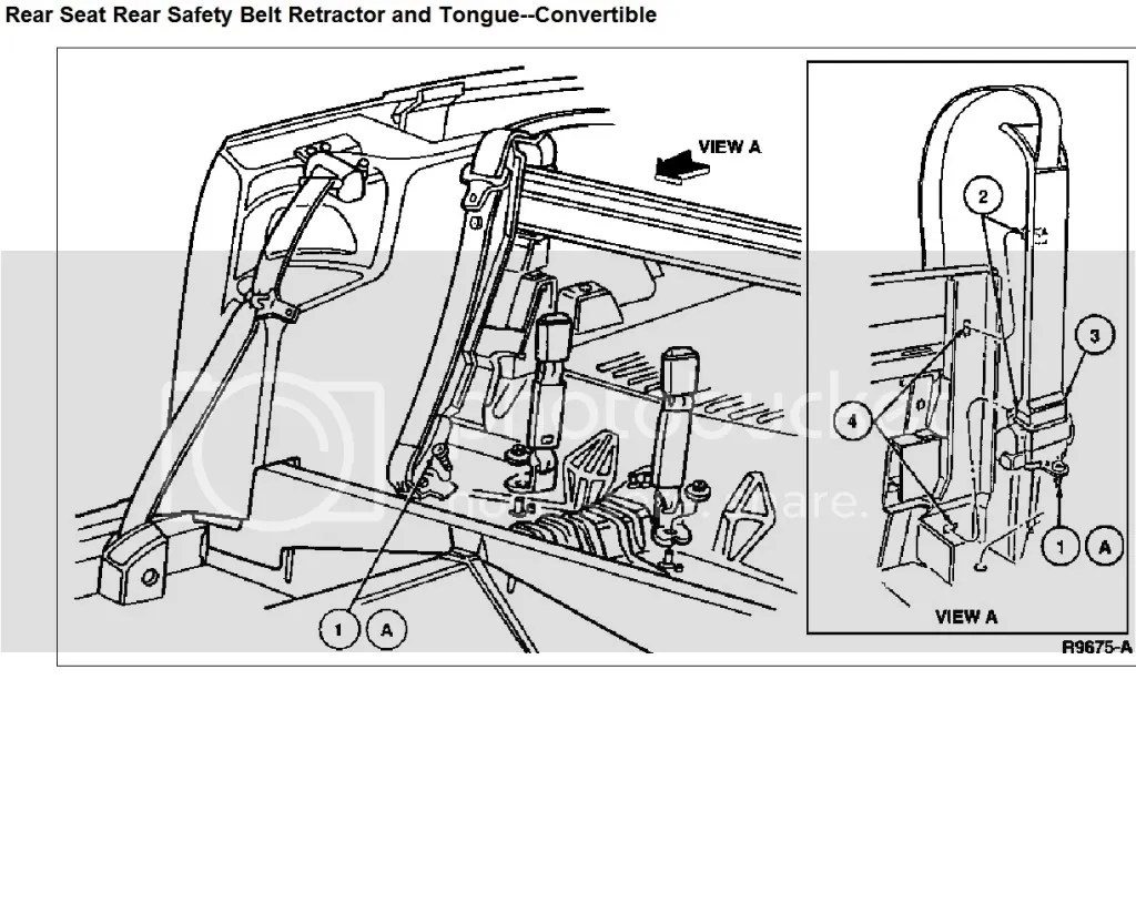 wiring diagram database  seat belt removal replacement