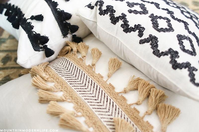 diy boho pillows no sew