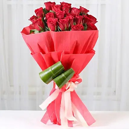 New Year Flowers Delivery Online at Midnight  Ferns N Petals Romantic Red Roses Bouquet  New Year Flowers