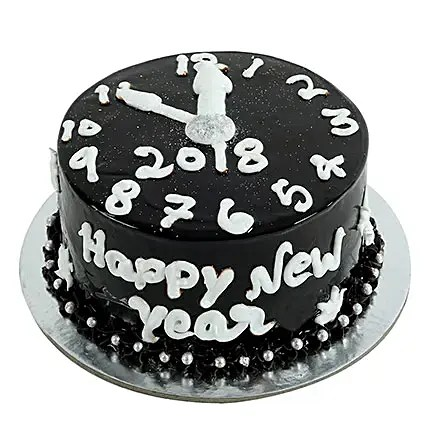 Dark Chocolate New Year Cake 1kg   Gift New Year Cake 1kg   Ferns N     Dark Chocolate New Year Cake 1kg