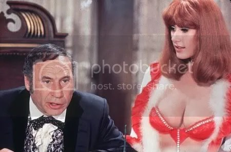 Mel Brooks and robyn Hilton in blazing Saddles