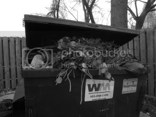 more flowers in the dumpster