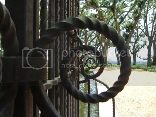 spirals at the gates to the tower