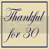 Thankful for 30,blog
