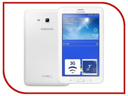 Планшет Samsung SM-T116 Galaxy Tab 3 Lite 7.0 - 8Gb Cream White SM-T116NDWASER (Quad Core 1.3 GHz/1024Mb/8Gb/Wi-Fi/3G/Bluetooth/Cam/7.0/1024x600/Android)