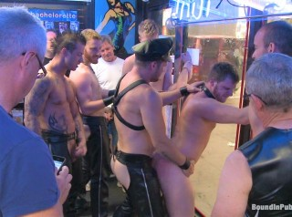 Naked stud bound, beaten and humiliated at Dore Alley Street Fair
