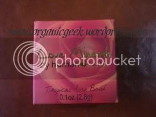 Love Minerals Powder Blush in Tropical Rose, still in its box.