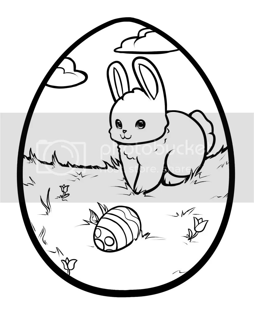 Coloring pages printable bunny