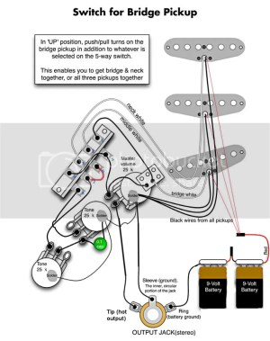 Wiring 3 EMG SA active pickups (old one) | GuitarNutz 2