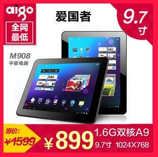 Планшет Aigo  M908(8G) M90 1.6G 9.7 4.0
