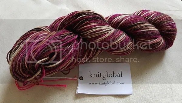 Knit Global yarn in Cranberries