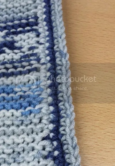 garter stitch crochet edging