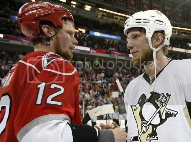 The Staal brothers dont look like they can grow beards, but Im thinking theyre pulling it off pretty well.